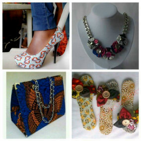 ankara shoe and bag
