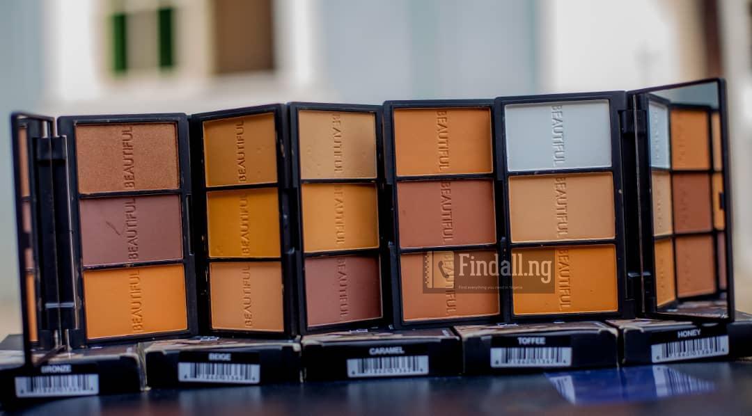 Beautiful cosmetics powder palette, Lovely made 083 cross river plaza trade fair shopping complex Lagos Nigeria,07037520751,09021392564,08153030775,