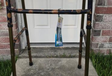 Free brand new walker and walking sticks