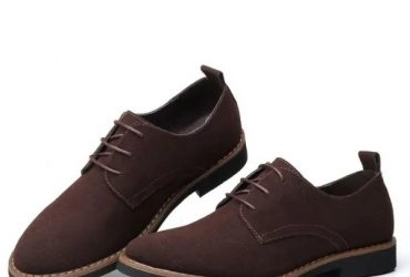 Men Suede Leather Business Shoes