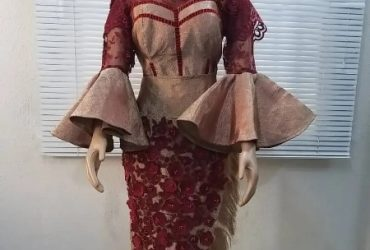 Classy Traditional Bridal Wear Made From Aso Oke